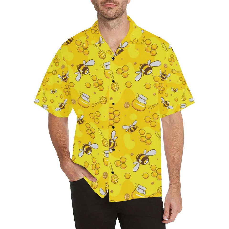 Bee Pattern Print Design BEE01 Hawaiian Shirt-kunshirts.com
