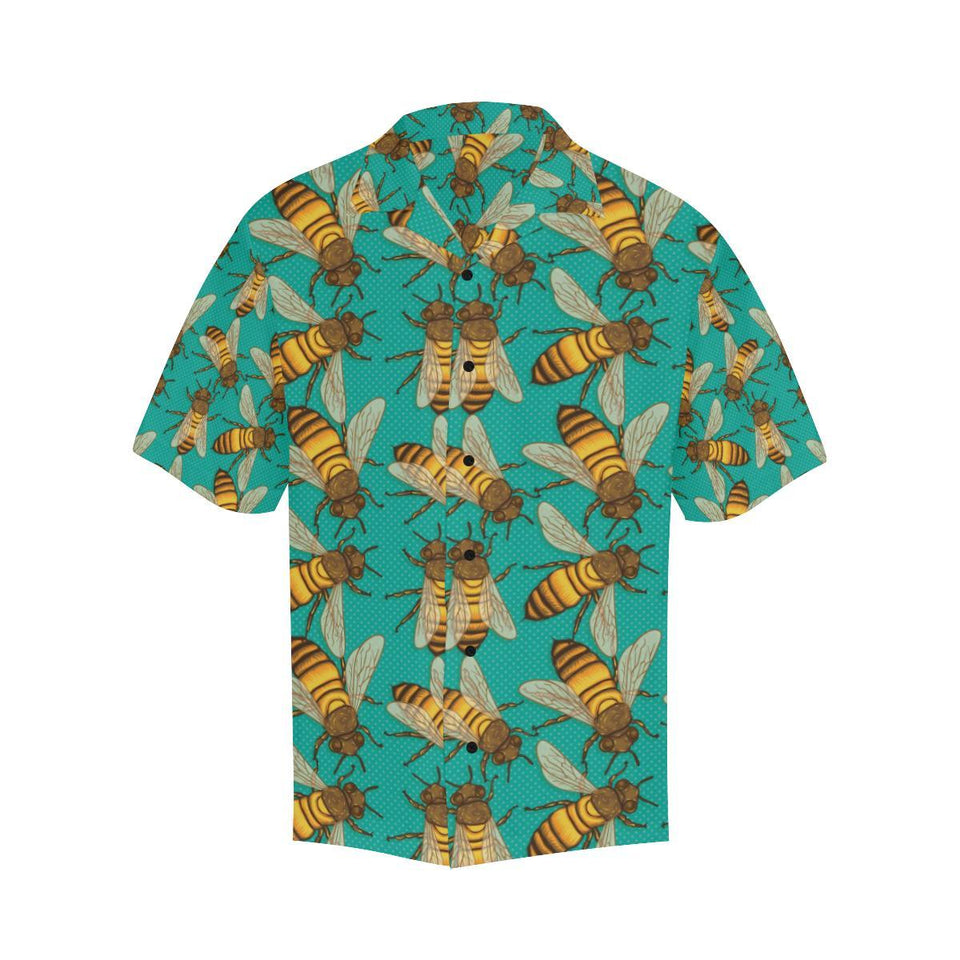 Bee Pattern Print Design BEE04 Hawaiian Shirt-kunshirts.com
