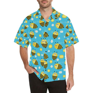 Bee Pattern Print Design BEE06 Hawaiian Shirt-kunshirts.com