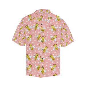 Bee Pattern Print Design BEE07 Hawaiian Shirt-kunshirts.com