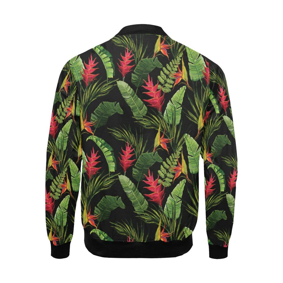Bird Of Paradise Pattern Print Design BOP010 Men Bomber Jacket-kunshirts.com