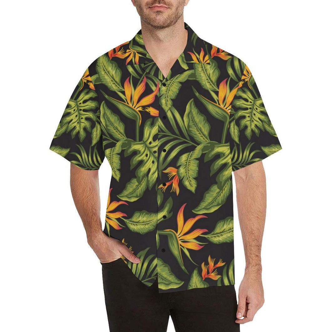 Bird Of Paradise Pattern Print Design BOP013 Hawaiian Shirt-kunshirts.com
