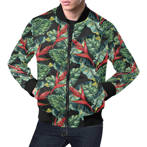 Bird Of Paradise Pattern Print Design BOP06 Men Bomber Jacket-kunshirts.com