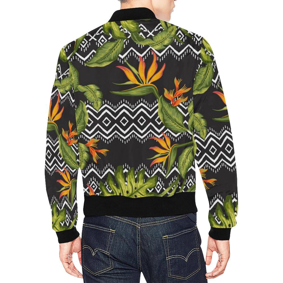 Bird Of Paradise Pattern Print Design BOP07 Men Bomber Jacket-kunshirts.com