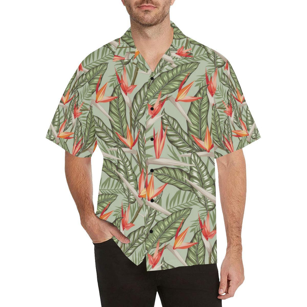 Bird Of Paradise Pattern Print Design BOP08 Hawaiian Shirt-kunshirts.com