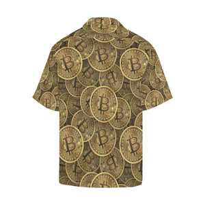 Bitcoin Pattern Print Design DO01 Hawaiian Shirt-kunshirts.com