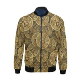 Bitcoin Pattern Print Design DO01 Men Bomber Jacket-kunshirts.com