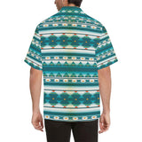 Blue Tribal Aztec Hawaiian Shirt-kunshirts.com