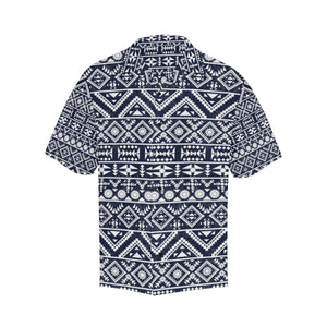 Blue White Tribal Aztec Hawaiian Shirt-kunshirts.com