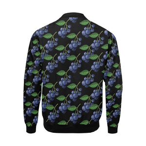 Blueberry Pattern Print Design BB01 Men Bomber Jacket-kunshirts.com