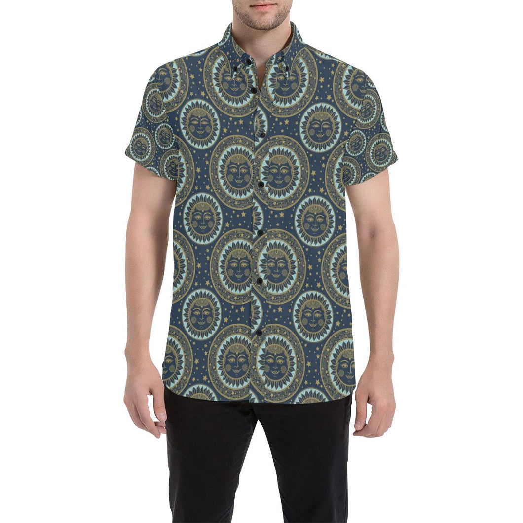 Boho Sun Dream Button Up Shirt-kunshirts.com