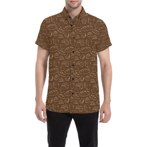 Bread Pattern Print Design 02 Men's All Over Print Shirt (Model T53)-kunshirts.com