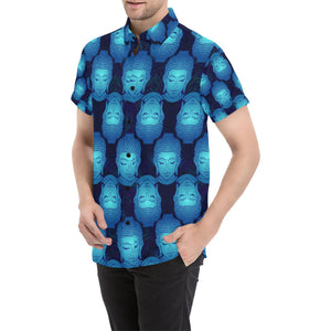 Buddha Head Mandala Button Up Shirt-kunshirts.com