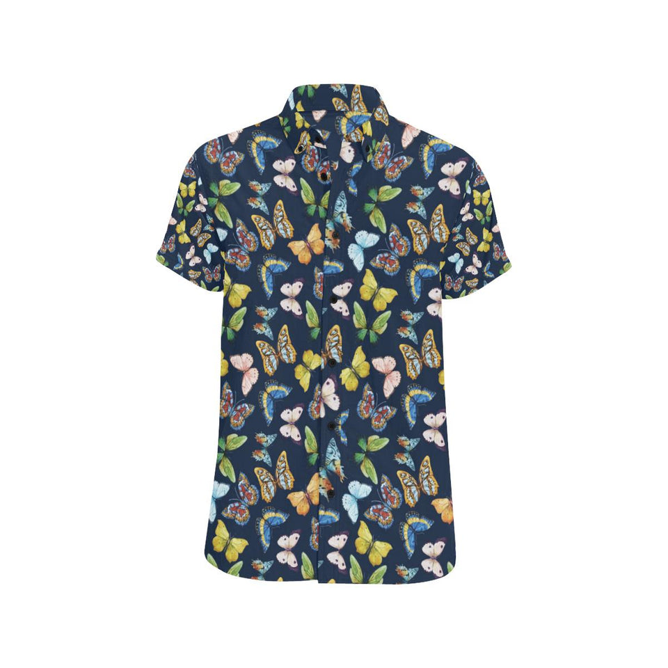 Butterfly Beautiful Print Pattern Button Up Shirt-kunshirts.com