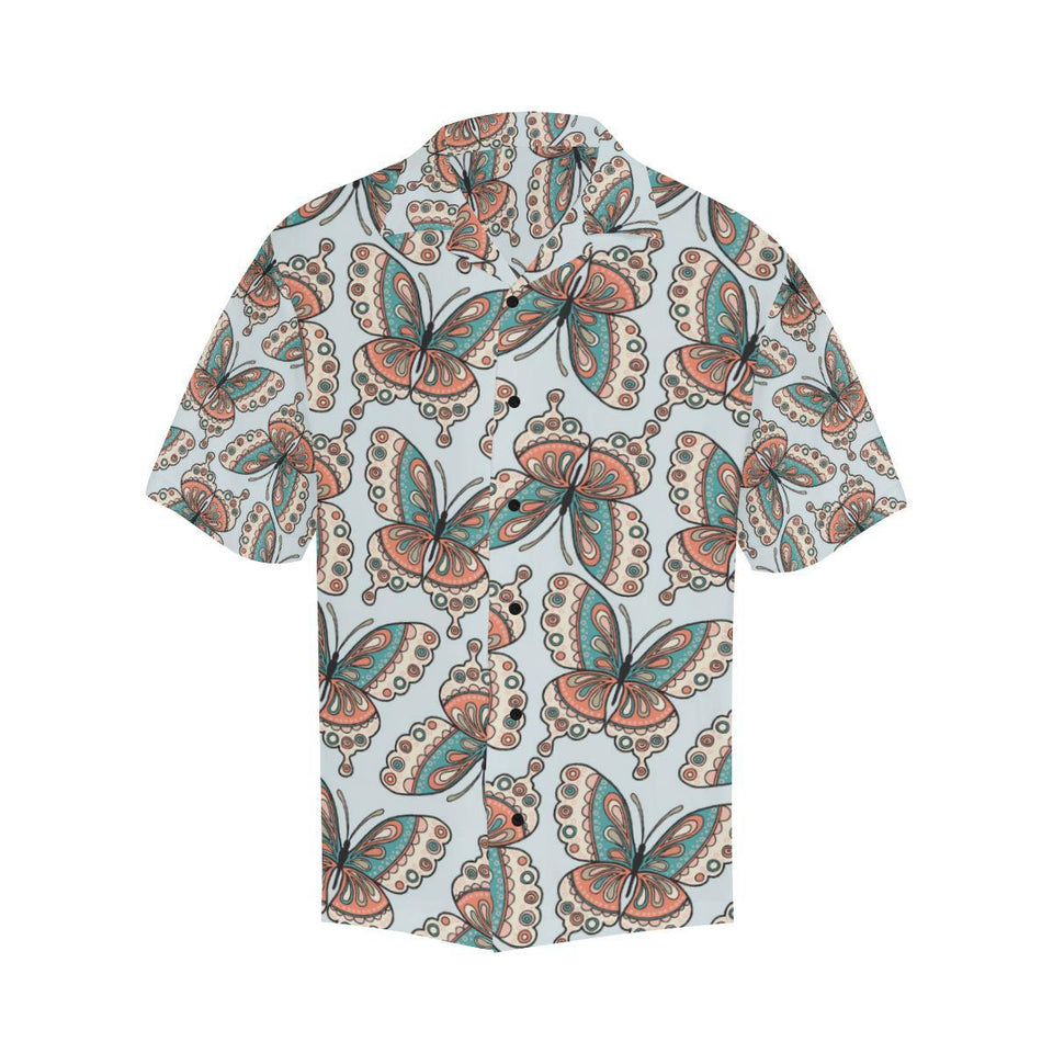 Butterfly Pattern Hawaiian Shirt-kunshirts.com