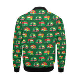 Camper Camping Christmas Themed Print Men Bomber Jacket-kunshirts.com
