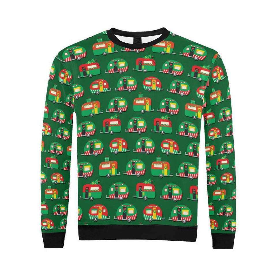 Camper Camping Christmas Themed Print Men Sweatshirt-kunshirts.com