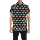 Camper Camping Pattern Button Up Shirt-kunshirts.com