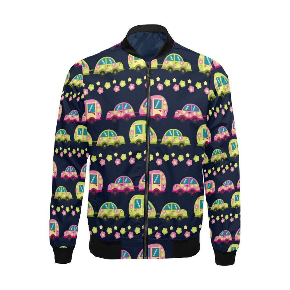 Camper Cute Camping Design No 3 Print Men Bomber Jacket-kunshirts.com