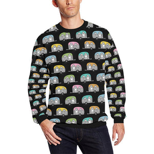 Camper Pattern Camping Themed No 2 Print Men Sweatshirt-kunshirts.com