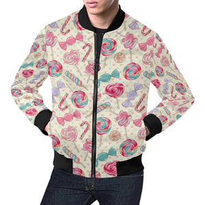 Candy Pattern Print Design CA04 Men Bomber Jacket-kunshirts.com