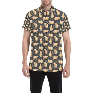 Capybara Pattern Print Design 02 Men's All Over Print Shirt (Model T53)-kunshirts.com