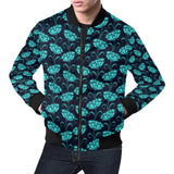 Carnations Pattern Print Design CN06 Men Bomber Jacket-kunshirts.com
