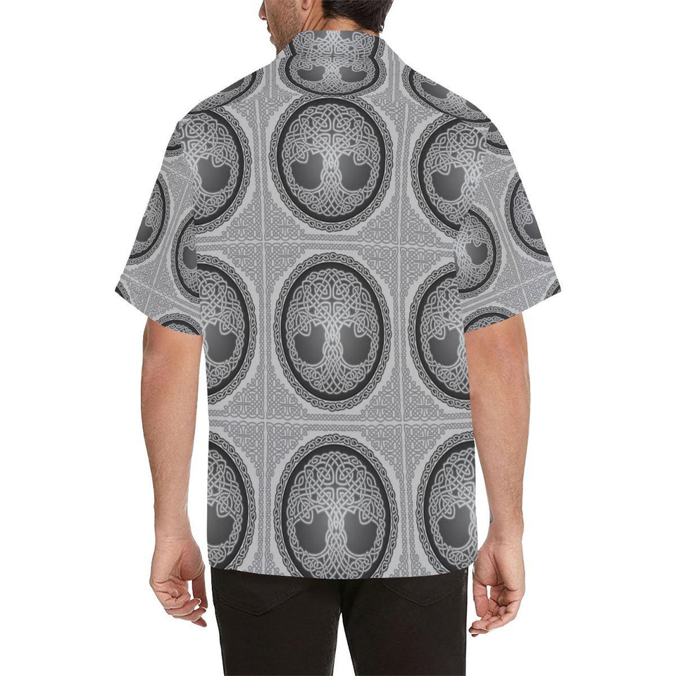 Celtic Tree of life Print Hawaiian Shirt-kunshirts.com