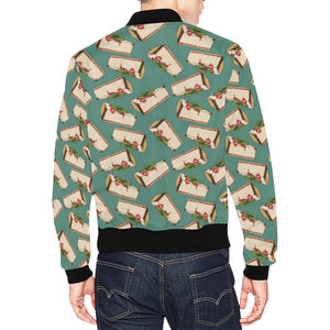 Cheesecake Pattern Print Design CK02 Men Bomber Jacket-kunshirts.com