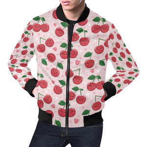 Cherry Pattern Print Design CH02 Men Bomber Jacket-kunshirts.com
