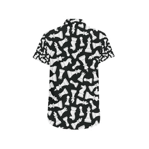 Chess Pattern Print Design 01 Men's All Over Print Shirt (Model T53)-kunshirts.com