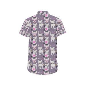 Chihuahua Happy Pattern Button Up Shirt-kunshirts.com