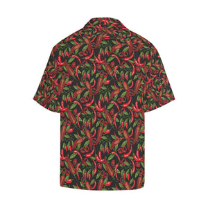 Chilli Pepper Pattern Print Design 02 Hawaiian Shirt-kunshirts.com