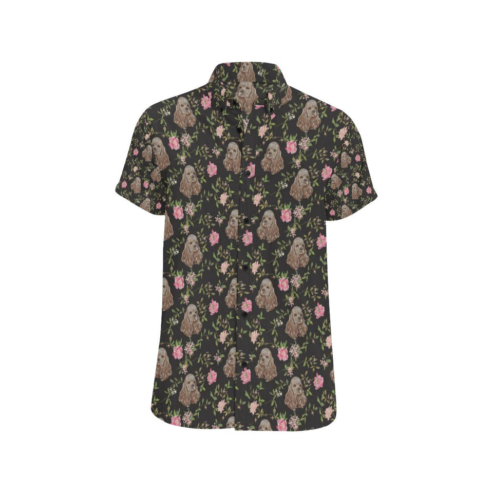 Cocker Pattern Print Design 03 Men's All Over Print Shirt (Model T53)-kunshirts.com