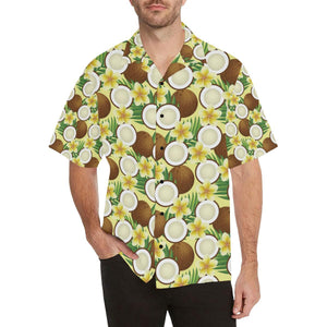 Coconut Pattern Print Design CN02 Hawaiian Shirt-kunshirts.com