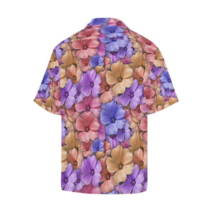 Colorful Geranium Pattern Hawaiian Shirt-kunshirts.com