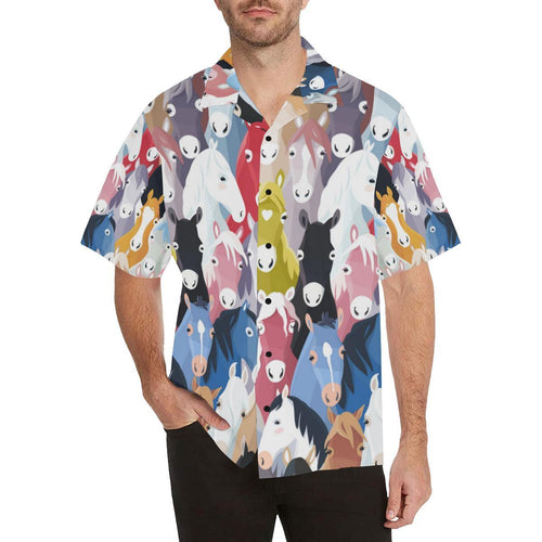 Colorful Horse Pattern Hawaiian Shirt-kunshirts.com