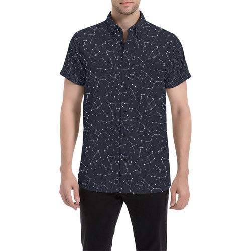 Constellation Pattern Print Design 03 Men's All Over Print Shirt (Model T53)-kunshirts.com