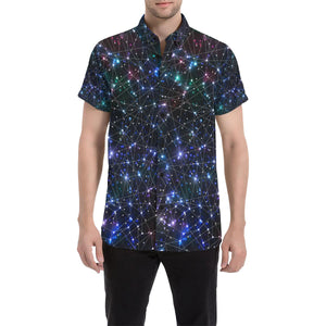 Cosmic Pattern Print Design 01 Men's All Over Print Shirt (Model T53)-kunshirts.com