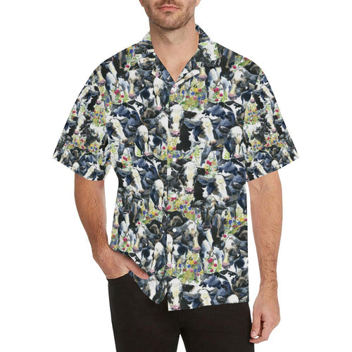 Cow Watercolor Print Pattern Hawaiian Shirt-kunshirts.com