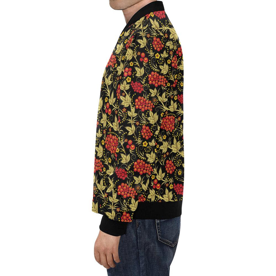 Cranberry Pattern Print Design CB02 Men Bomber Jacket-kunshirts.com