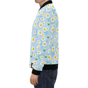 Daisy Pattern Print Design DS010 Men Bomber Jacket-kunshirts.com
