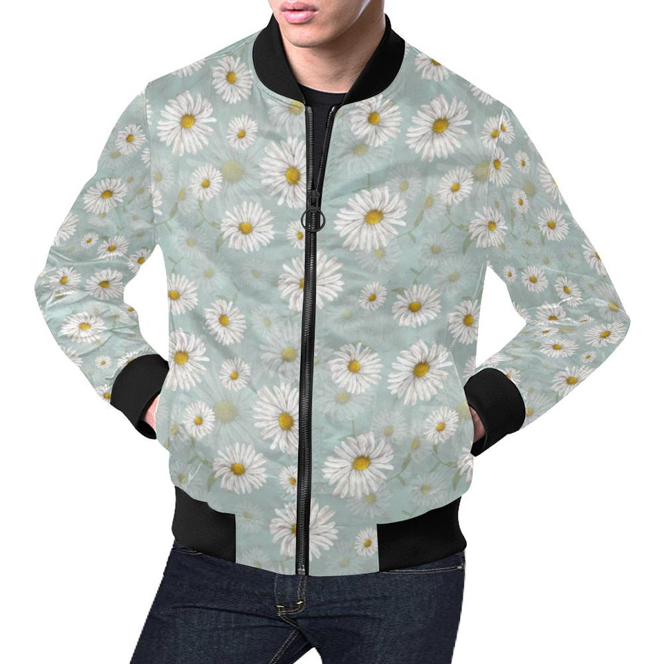 Daisy Pattern Print Design DS012 Men Bomber Jacket-kunshirts.com