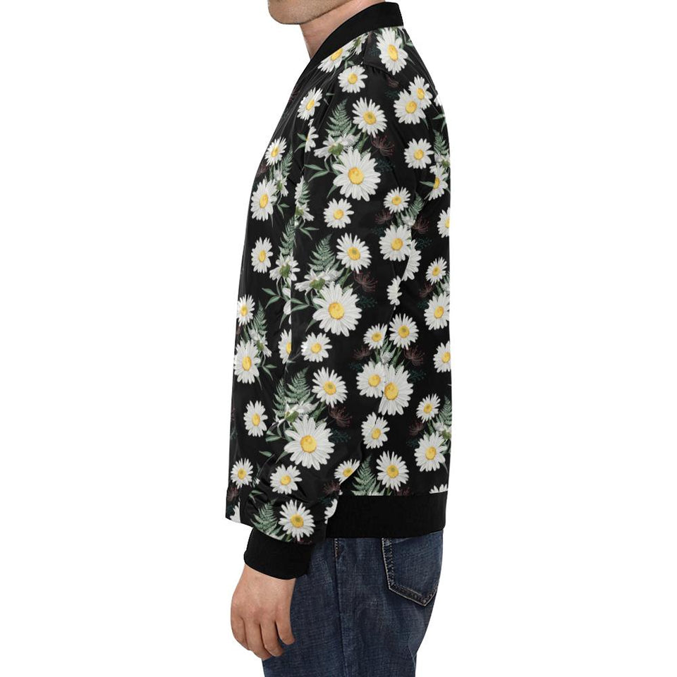Daisy Pattern Print Design DS07 Men Bomber Jacket-kunshirts.com
