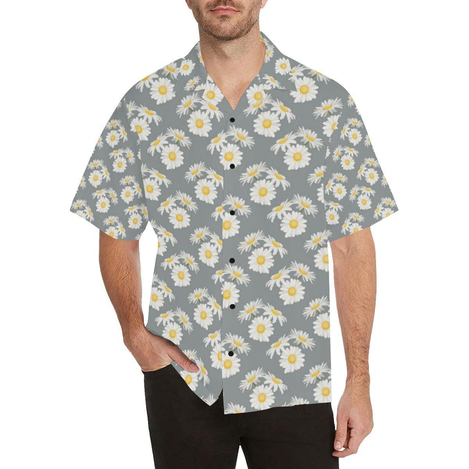 Daisy Pattern Print Design DS09 Hawaiian Shirt-kunshirts.com