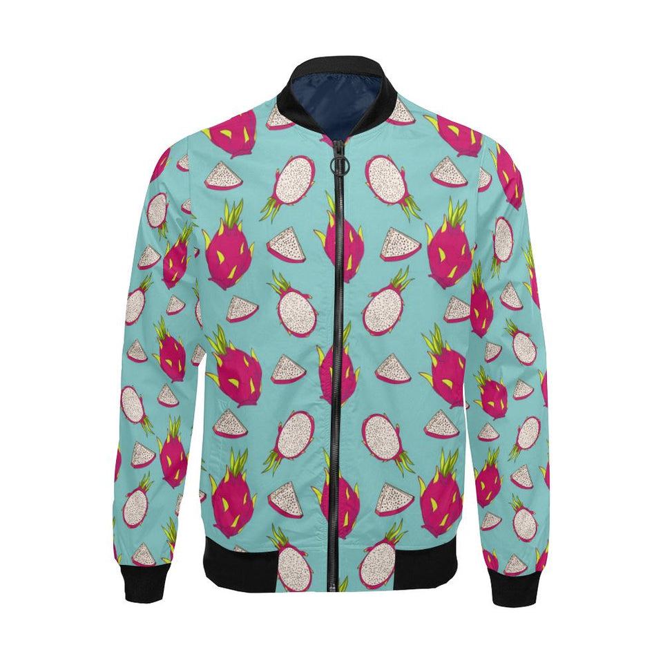 Dragonfruit Pattern Print Design DF01 Men Bomber Jacket-kunshirts.com