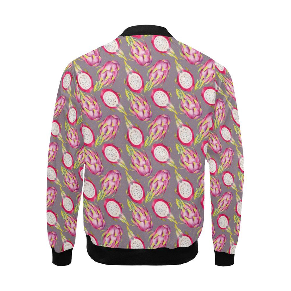 Dragonfruit Pattern Print Design DF03 Men Bomber Jacket-kunshirts.com