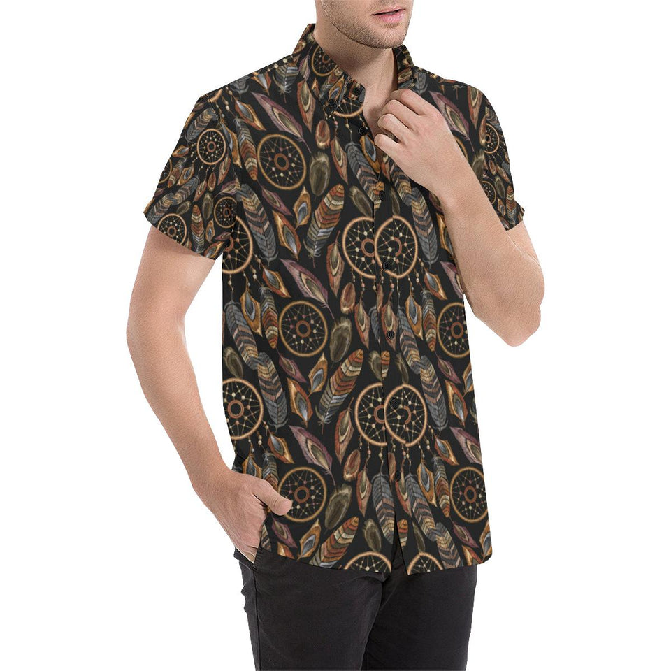 Dream catcher embroidered style Button Up Shirt-kunshirts.com