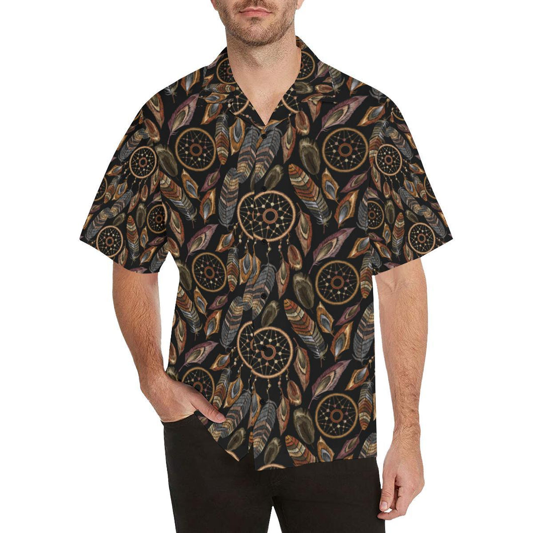 Dream catcher embroidered style Hawaiian Shirt-kunshirts.com