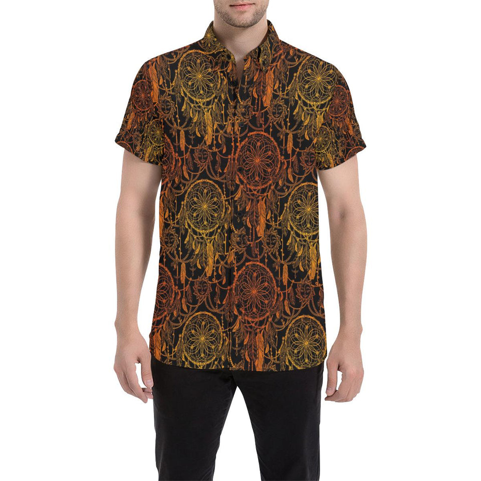 Dream catcher Sun and Moon Button Up Shirt-kunshirts.com
